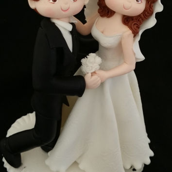 Wedding Cake Topper, Romantic Couple Cake Topper, Romantic Bride and Groom Cake Decorations, Weddings, Cake Topper, Romantic Cake Topper, Dancing Bride
