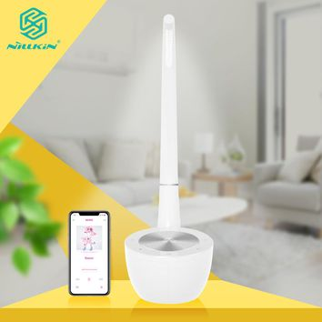 LED Home Bedroom Lamp with Bluetooth Speaker HiFi Nillkin 2 in 1 Desk Eyes protection Reading Lamp USB Charger for xiaomi