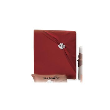 White Garbo (holds 240 signatures, 3 ring binder) Memory Book