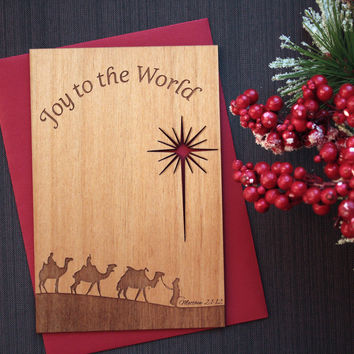 Three Kings Christmas Card - Christian Christmas Greetings