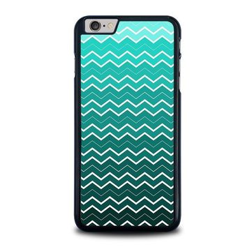 ombre teal chevron pattern iphone 6 6s plus case cover  number 2