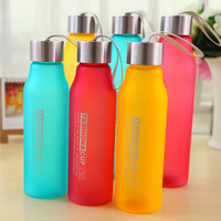 3 Colors My Portable leak-proof water bottles space lemon cup frosted May bottl sports Bottle 600ml / 800ml