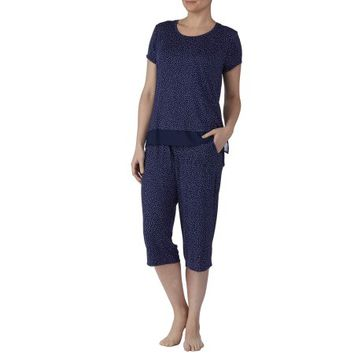 Secret Treasures Women's and Women's Plus 2 Piece Capri and Tee Pajama Set - Walmart.com