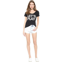Black Let's Play T-shirt