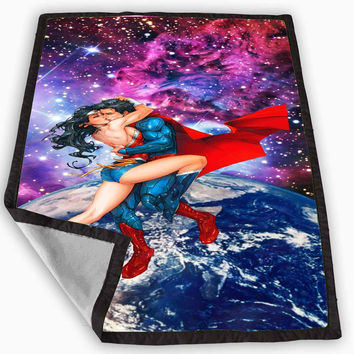 superman love wonder woman nebula galaxy Blanket for Kids Blanket, Fleece Blanket Cute and Awesome Blanket for your bedding, Blanket fleece **