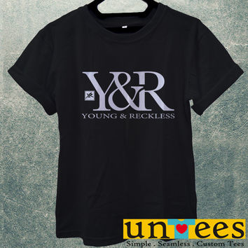 Low Price Men's Adult T-Shirt - Young and Reckless design