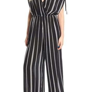Band of Gypsies Stripe Surplice Jumpsuit | Nordstrom