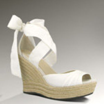 UGG Lucianna for Women - White | Espadrille Wedge Sandals at UGGAustralia.com