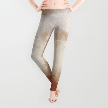 Rothko Inspired Spiced Berry Canyon Dusk 001 Leggings by Corbin Henry