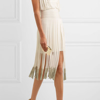 Hervé Léger - Fringed dégradé bandage dress