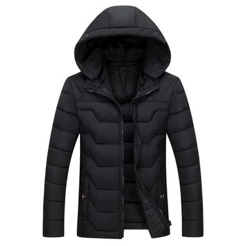 The Banff Geo Puffer Coat Black