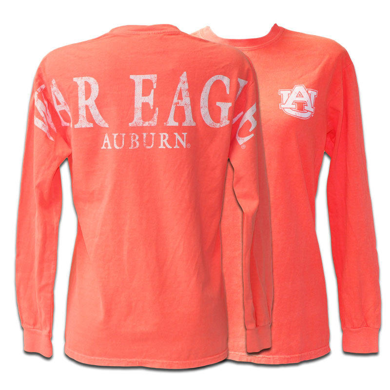 T shirt comfort color shoulder war eagle from for Auburn war eagle shirt