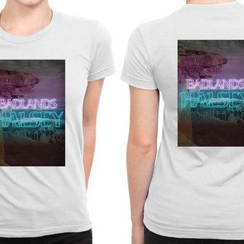 ESBH9S Halsey Badlands Cover B 2 Sided Womens T Shirt