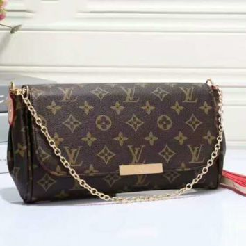 LV Women Shopping Leather Metal Chain Crossbody Satchel Shoulder Bag G-LLBPFSH