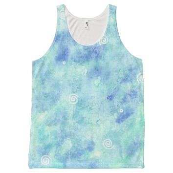 All Over printed tank top - Blue lagoon All-Over Print Tank Top