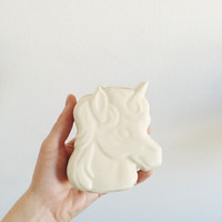 Vintage Unicorn Trinket Box . Porcelain Unicorn Lidded Box . Ceramic Box . Ring Holder
