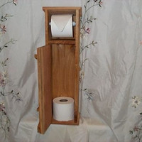 New Ropedoncedar Handmade Cedar Toilet Paper holder storage funny bathroom decor country life paint stain