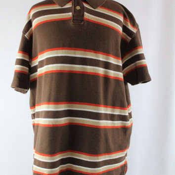 Boys Arizona Striped Polo Short Sleeve Top, size XL