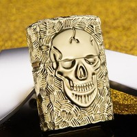 Skull metal kerosene cigarette lighter Smoking Accessories