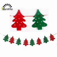 New 2M Event Party Supplies Christmas Decoration For Home Santa Bunting Pennant Hanging Flag Banner Xmas Ornaments Supplies #
