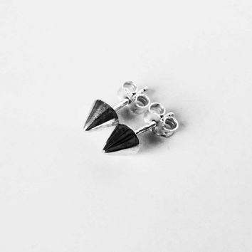 sterling silver spike earring studs