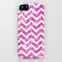 Pink blurry sparkle chevron iPhone Case by Rex Lambo   Society6