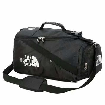 The North Face New fashion letter print hit color splice large-capacity travel bag shoulder bag handbag