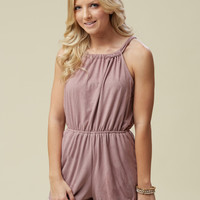 Altar'd State Swanky Suede Romper - Rompers/Jumpsuits - Apparel
