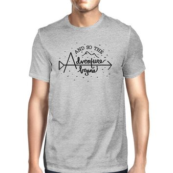 And So The Adventure Begins Mens Grey Shirt