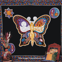 Sun Moon Lady Butterfly Tapestry, Bohemian Wall Hanging, CELESTIAL Sun Moon Tapestry, Hippy Hippy Bedspread, Indian Tapestry, Dorm Bedding