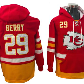 KUYOU Kansas City Chiefs Lacer - Eric Berry Red Pullover