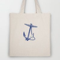 Nautical Anchor Tote Bag by Silva Ware by Walter Silva