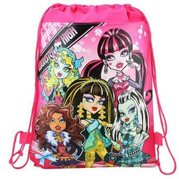 Cartoon Drawstring school bags for boys,Kids Birthday Party Favor,Mochila School Kids backpack