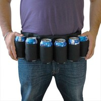 BigMouth Inc Beer Belt / 6 Pack Holster(Black)