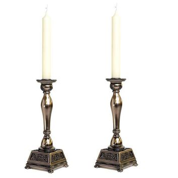 Bronze Abbey Candle Stick Holders (pair of 2)