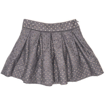 Monnalisa - Girls Wool Perforated Skirt