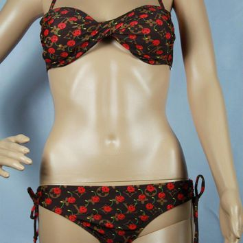 Louis Vuitton Fashion Edgy Brassiere Underpant Set Two-Piece Bikini-2