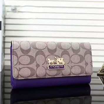 COACH Woman shopping hand bag Purple