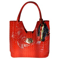 Vecceli Italy Alligator Shoulder Handbag model AS-177