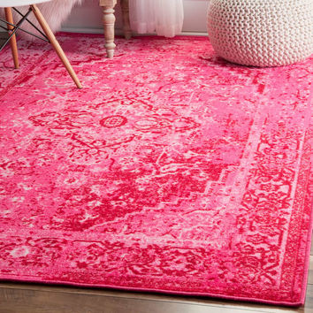 Bungalow Rose Kapadia Pink Area Rug & Reviews | Wayfair