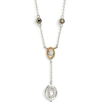 Women's Judith Jack Two Tone Circle Y-Necklace - Silver/ Gold