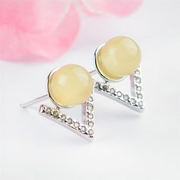 Genuine Natural Yellow Amber Gemstone Crystal Wedding Party Earrings For Women 925 Sterling Silver Fine Jewelry