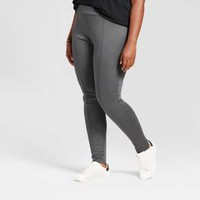 Women's Plus Size Pull on Ponte Pants - Ava & Viv™