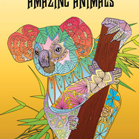 Amazing Animals: Adult Coloring Book