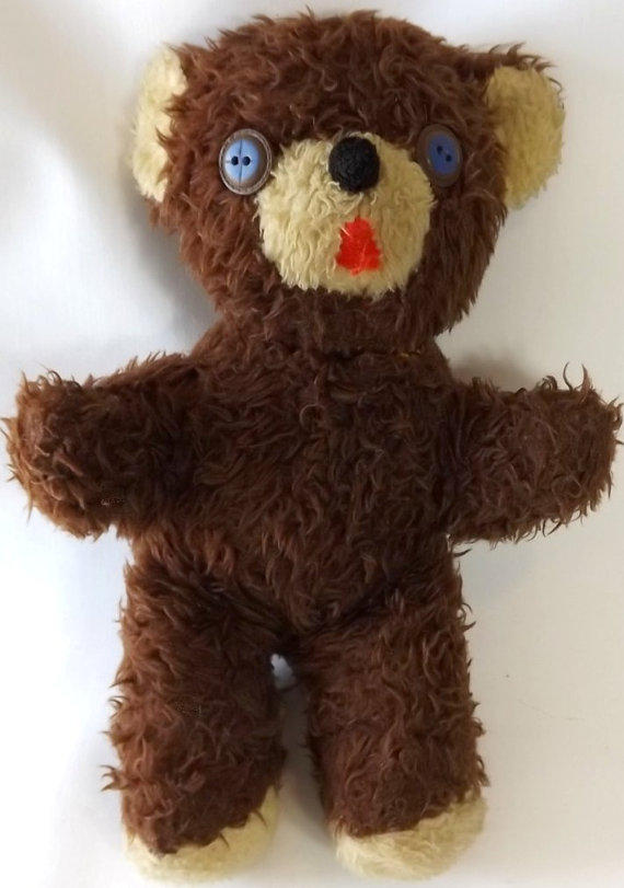 Shaggy Brown Teddy Bear with Button Eyes from Moms  : fullsize from wanelo.co size 570 x 811 jpeg 60kB