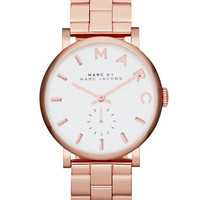 Marc By Marc Jacobs Ladies Baker Rose Gold-Tone Watch