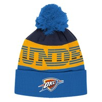 adidas Oklahoma City Thunder Cuffed Knit Cap - Adult, Size: One Size (Blue)