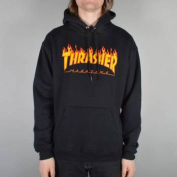 Thrasher Thrasher Flames Hoodie - Black - Thrasher from Native Skate Store UK
