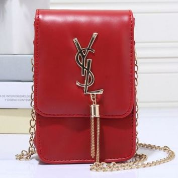 YSL Tassel Women Shopping Leather Metal Chain Crossbody Satchel Shoulder Bag H-MYJSY-BB-2