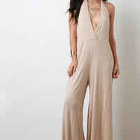 Halter Split Jumpsuit